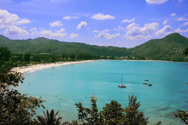 Kamala Beach i Phuket, Thailand