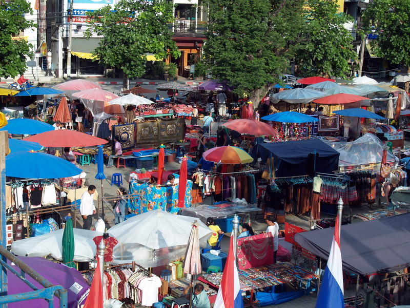 En dag på marknaden i Chiang Mai, Thailand
