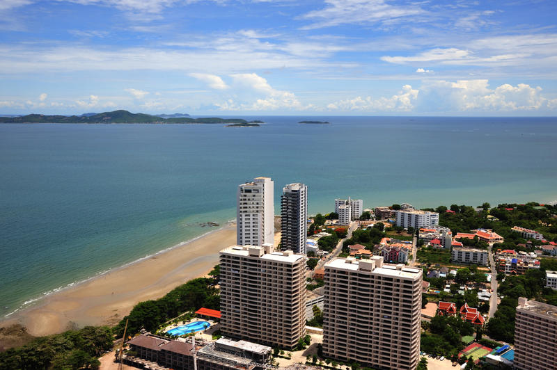 Pattaya bay i Thailand